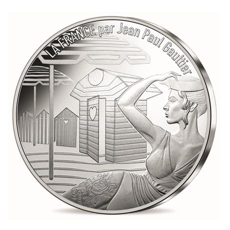10 euro France 2017 argent - La Normandie inspirante Avers
