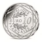 10 euro France 2017 argent - Le Roussillon dansant Revers