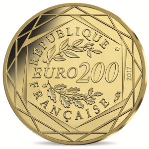 200 euro France 2017 or BU - La France Revers (zoom)