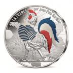 50 euro France 2017 argent - Coq en marinière Avers