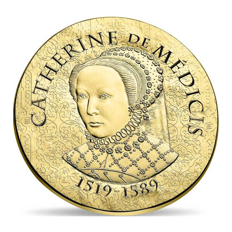 50 euro France 2017 or BE - Catherine de Médicis Avers