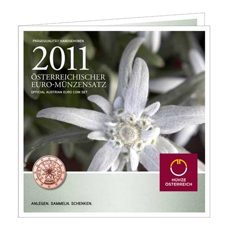 Brilliant Uncirculated coin set Austria 2011
