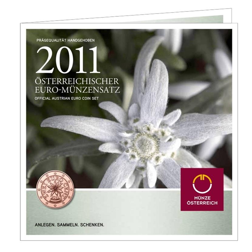 (EUR01.CofBU&FDC.2011.Cof-BU) BU coin set Austria 2011 (zoom)