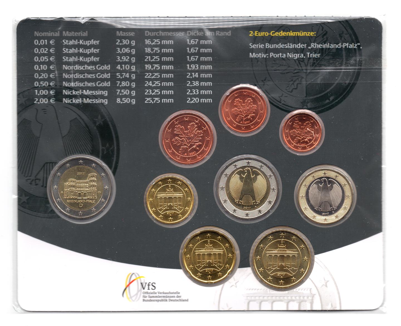 Coffret Bu Allemagne 2017 A Elysées Numismatique