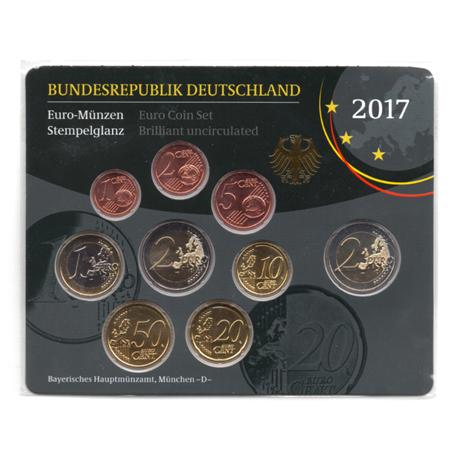 (EUR03.CofBU&FDC.2017.Cof-BU.D.000000002) Coffret BU Allemagne 2017 D Verso