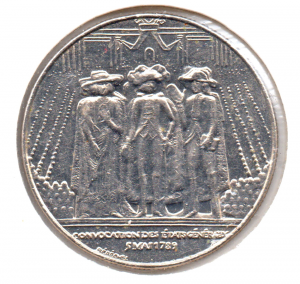 (FMO.1.1989.29.1.000000001) 1 Franc Etats généraux 1989 Avers (zoom)