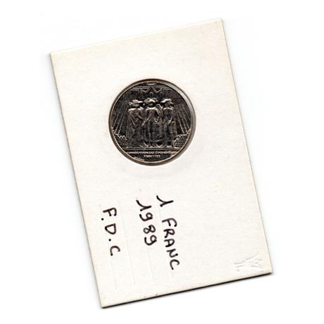 (FMO.1.1989.29.1.000000001) 1 Franc Etats généraux 1989 Recto