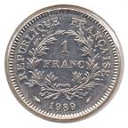 (FMO.1.1989.29.1.000000001) 1 Franc Etats généraux 1989 Revers
