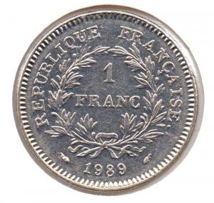 (FMO.1.1989.29.1.000000001) 1 Franc Etats généraux 1989 Revers (zoom)