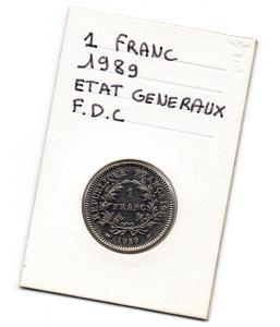 (FMO.1.1989.29.1.000000001) 1 Franc Etats généraux 1989 Verso (zoom)