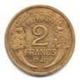 (FMO.2.1941.18.12.000000001) 2 Francs Morlon 1941 Revers