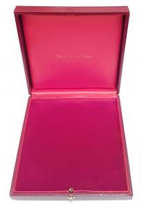 (MATMDP.Cofméd&écr.Ecr.120mmx120mmx28mm) Ecrin pour médaille Monnaie de Paris (ouvert) (zoom)