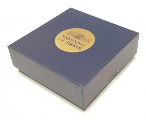 (MATMDP.Cofméd&écr.Ecr.97mmx97mmx28mm) Boîte pour médaille Monnaie de Paris (fermée) (zoom)