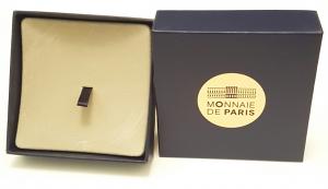 (MATMDP.Cofméd&écr.Ecr.97mmx97mmx28mm) Boîte pour médaille Monnaie de Paris (ouverte) (zoom)