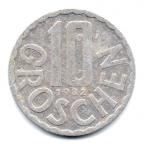 (W018.010.1982.1.000000001) 10 Groschen Aigle 1982 Revers