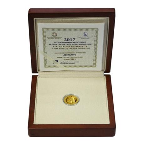 200 euro Grèce 2017 or BE - Diogène (écrin)
