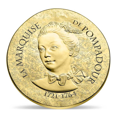 50 euro France 2017 or BE - Marquise de Pompadour Avers