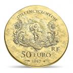 50 euro France 2017 or BE - Marquise de Pompadour Revers