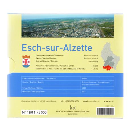(EUR11.CofBU&FDC.2017.Cof-BU.000000002) Coffret BU Luxembourg 2017 Verso