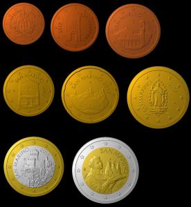 1 cent à 2 euro Saint-Marin 2017 (zoom)