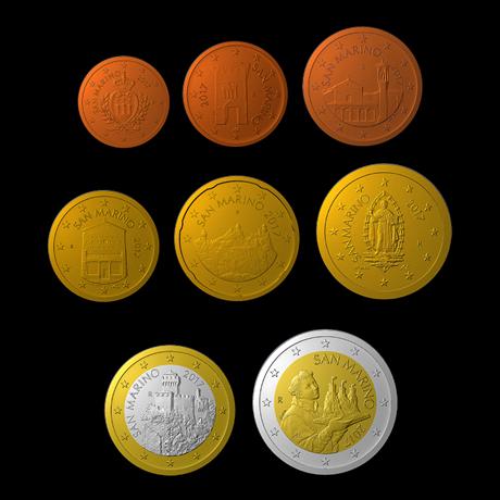 1 cent à 2 euro Saint-Marin 2017