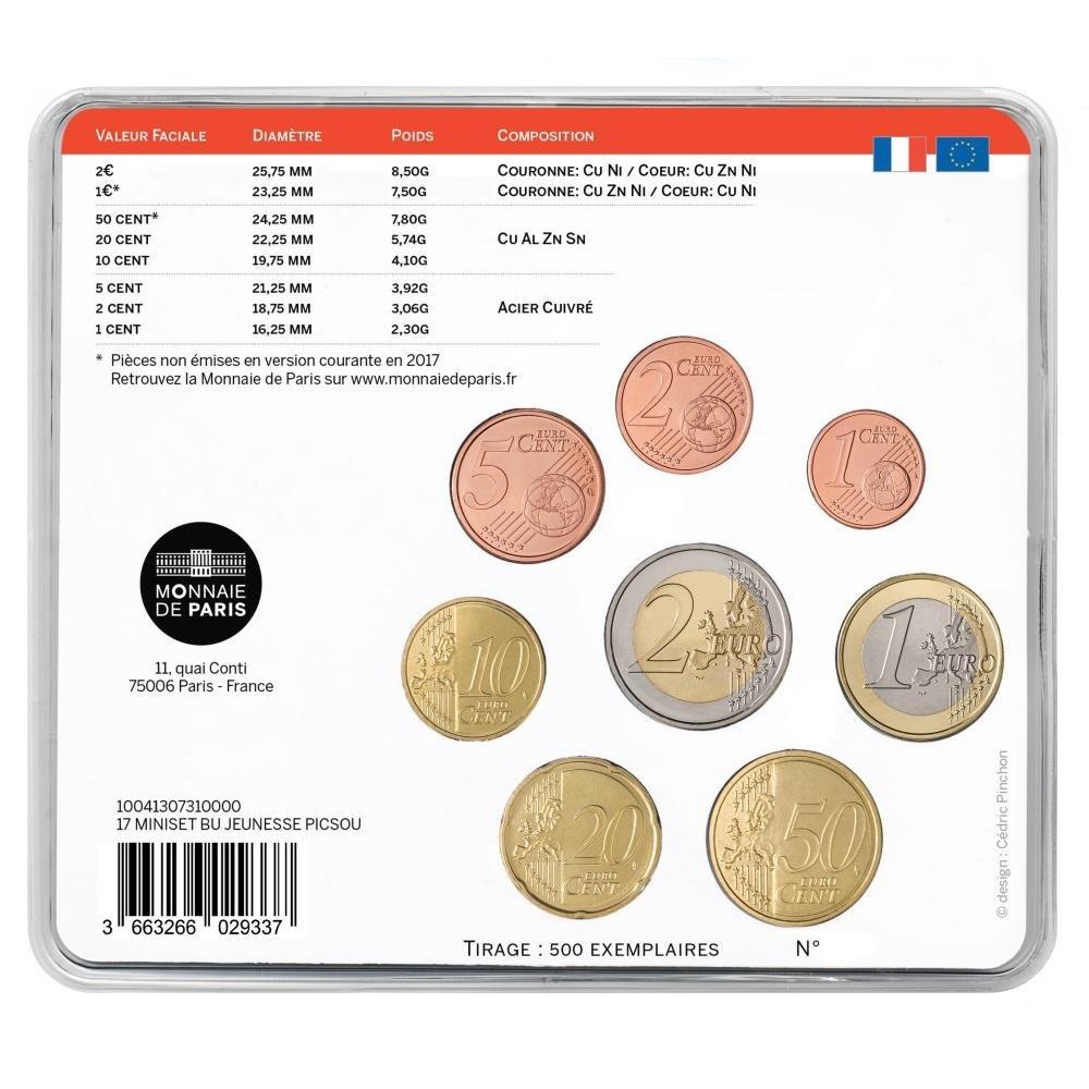 (EUR07.CofBU&FDC.2017.10041307310000) BU coin set France 2017 - DuckTales Back (zoom)