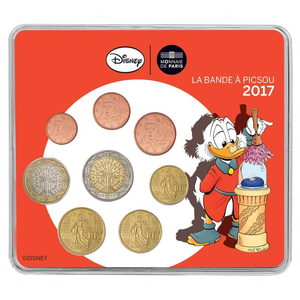 (EUR07.CofBU&FDC.2017.10041307310000) BU coin set France 2017 - DuckTales Front (zoom)