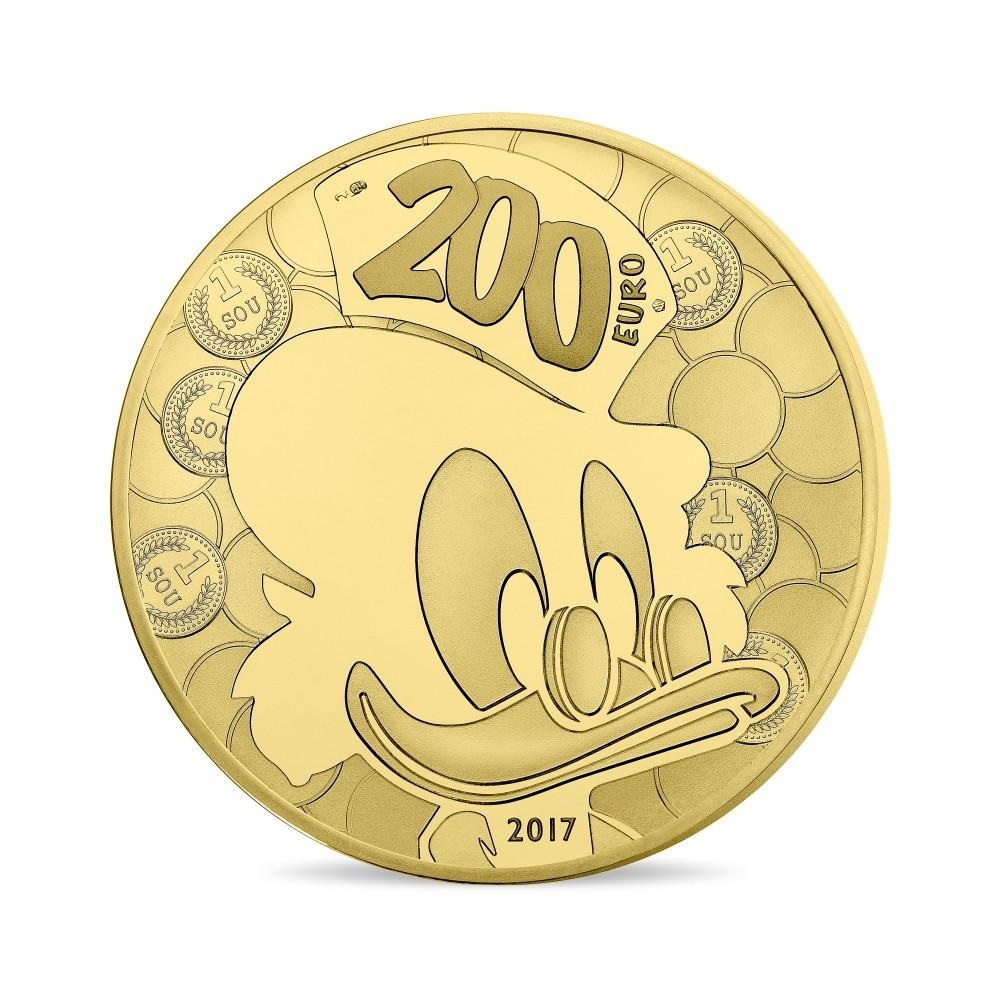 (EUR07.ComBU&BE.2017.10041307970000) 200 euro France 2017 Proof gold - DuckTales Reverse (zoom)