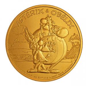 (FMED.Méd.souv.n.d._2017_.CuAlNi1) Jeton souvenir - Astérix & Obélix Avers (zoom)