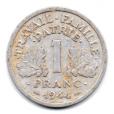 (FMO.1.1944.24.4.000000001) 1 Franc Francisque, légère 1944 Revers