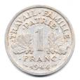 (FMO.1.1944.24.4.000000002) 1 Franc Francisque, légère 1944 Revers