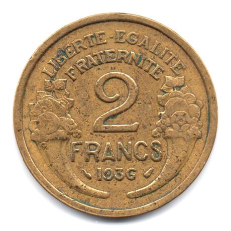(FMO.2.1936.18.7.000000001) 2 Francs Morlon 1936 Revers