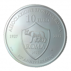 10 euro Saint-Marin 2017 argent BU - AS Roma Revers