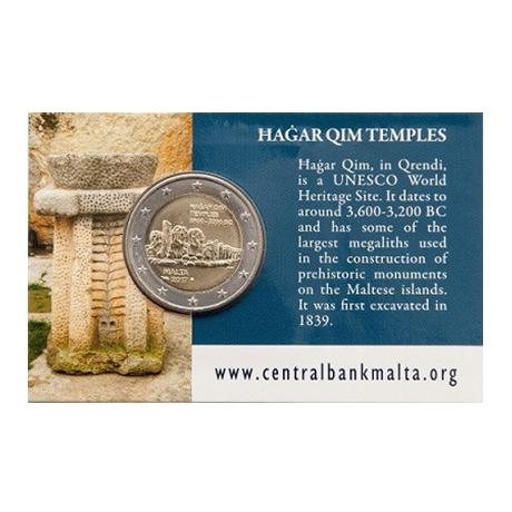 2 euro commémorative Malte 2017 BU - Ħaġar Qim Verso