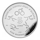 5 euro Saint-Marin 2017 argent BE - Jeux des petits états d'Europe Revers