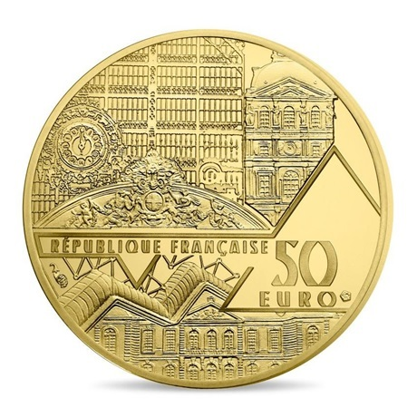 (EUR07.ComBU&BE.2017.10041308020000) 50 euro France 2017 or BE - Vénus de Milo Avers