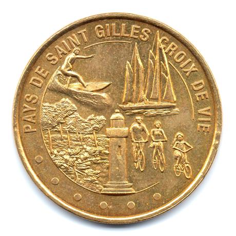(FMED.Méd.tourist.2012.CuAlNi1.000000001) Jeton touristique - Pays de Saint Gilles Croix de Vie Avers