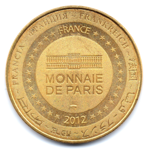 (FMED.Méd.tourist.2012.CuAlNi1.000000001) Tourism token - Saint Gilles Croix de Vie Reverse (zoom)