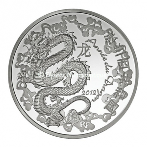 10 euro France 2012 Proof silver - Year of the Dragon Obverse