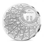 20 euro France 2018 argent BE - Année du Chien Avers