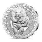 20 euro France 2018 argent BE - Année du Chien Revers