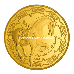 200 euro France 2014 Proof gold - Year of the Horse Obverse