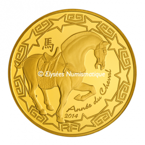 50 euro France 2014 Proof gold - Year of the Horse Obverse