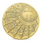 50 euro France 2018 or BE - Année du Chien Avers
