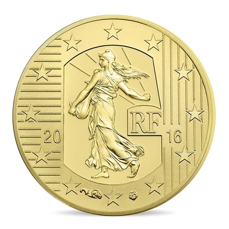 (EUR07.ComBU&BE.2016.10041299660000) 10 euro France 2016 Au BE - Semeuse Avers