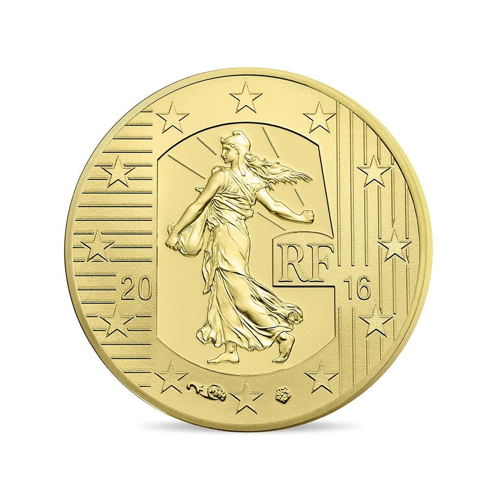 (EUR07.ComBU&BE.2016.10041299660000) 10 euro France 2016 Proof Au - Sower Obverse (zoom)