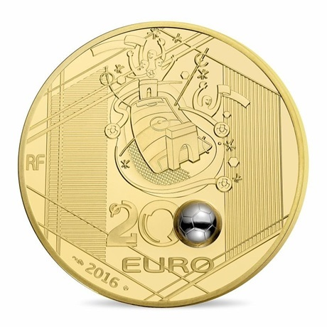 (EUR07.ComBU&BE.2016.10041300610000) 200 euro France 2016 Au BE - UEFA Euro 2016 Revers