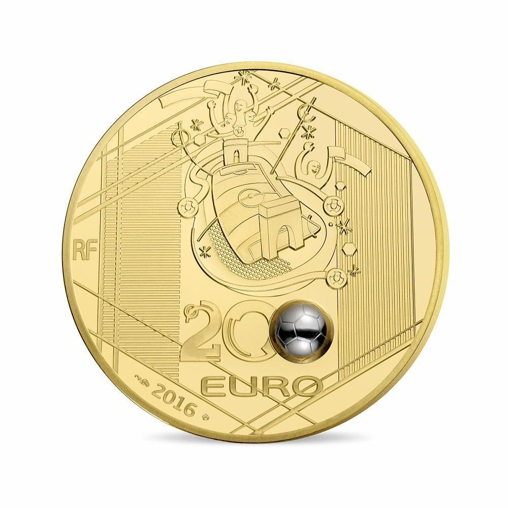(EUR07.ComBU&BE.2016.10041300610000) 200 euro France 2016 Proof gold - UEFA Euro 2016 Reverse (zoom)