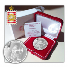 (EUR12.ComBU&BE.2014.1000.BE.COM1) 10 euro Monaco 2014 argent BE - Héraclès archer (packaging et écrin)