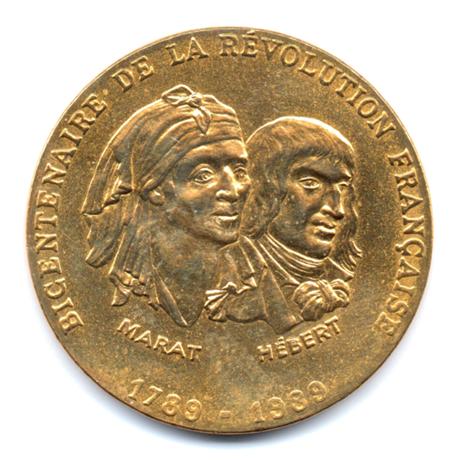 (FMED.Méd.even.1989.CuAlNi-1.000000002) Jeton événementiel - Marat et Hébert Avers